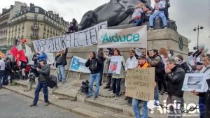 La vape manifeste contre la loi de santé (AIDUCE)